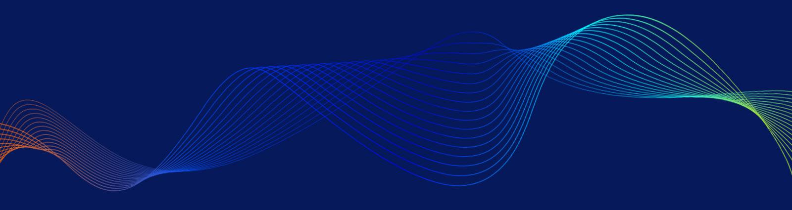 New York NYIIX Peering Exchange Abstract Lines Graphic